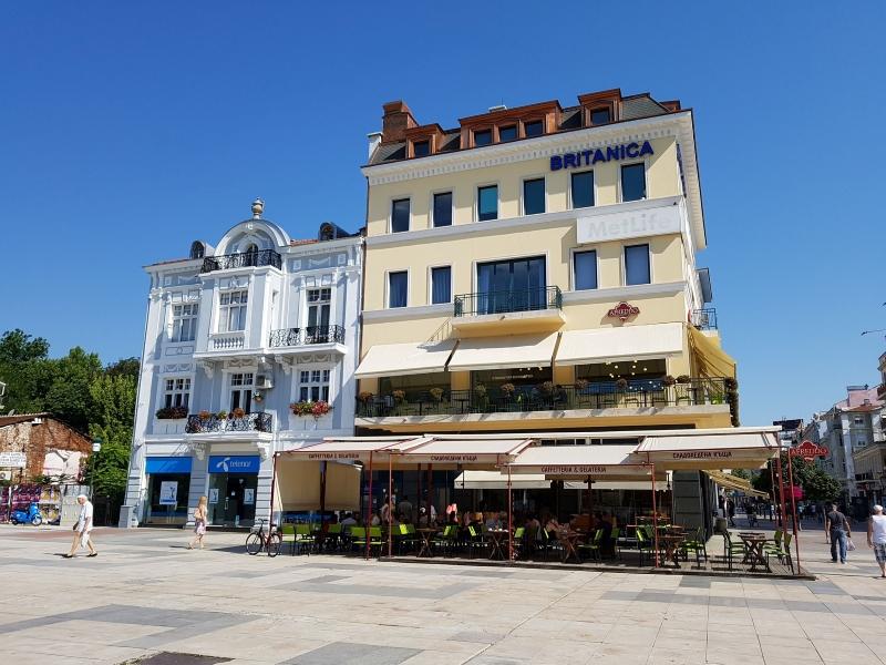 Restaurant Afreddo in het moderne stadsdeel van Plovdiv.