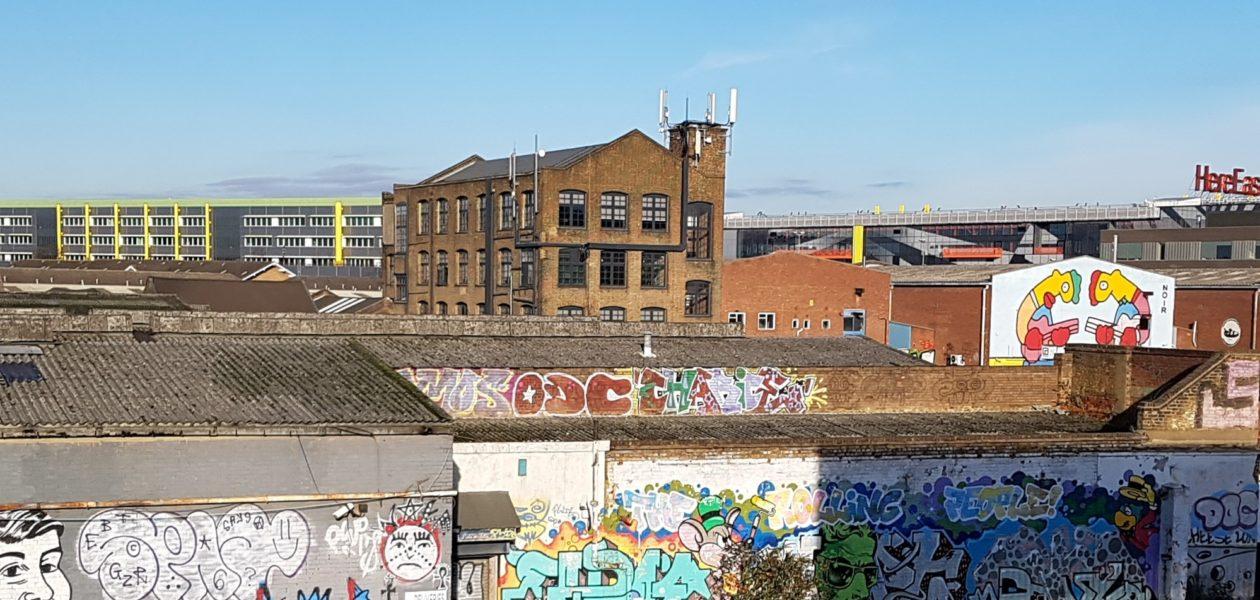 Hackney Wick Railwaystation Londen
