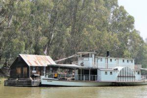 Paddle steamer in Echuca, Australië
