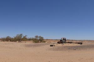 Autowrak in de Australische Outback