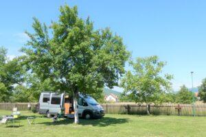Kleine camping in het binnenland van Kroatië