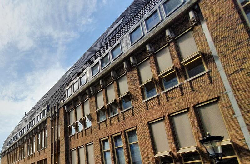 Zijmuur gebouw oude postkantoor Utrecht