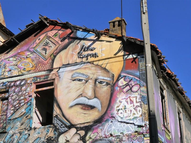 Detail van de muurschildering van foto hierboven