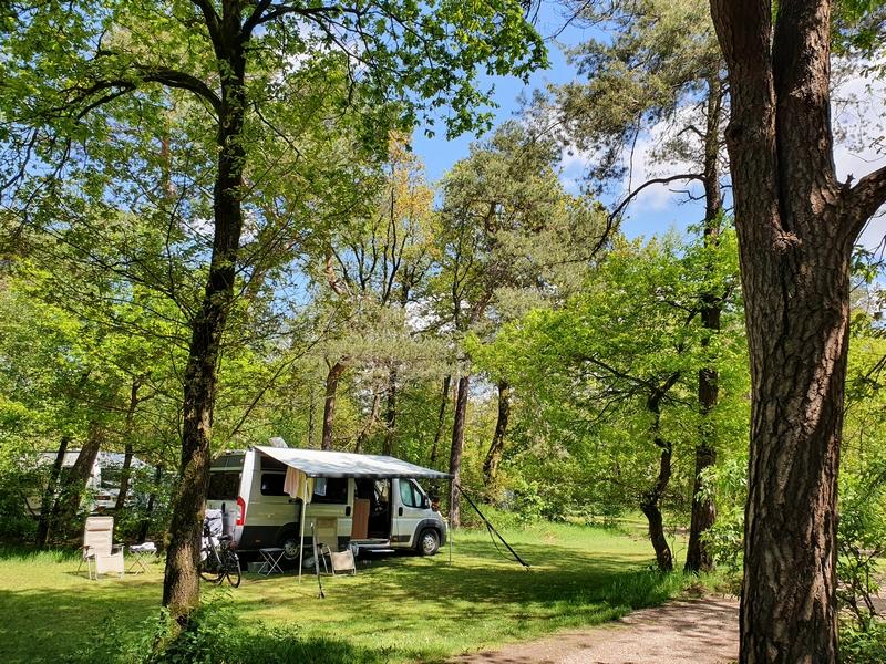 Onze plek op camping Harskamperdennen