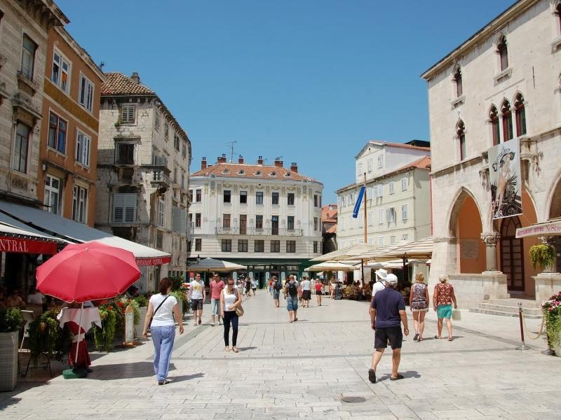voetgangersgebied in het historisch centrum van Split