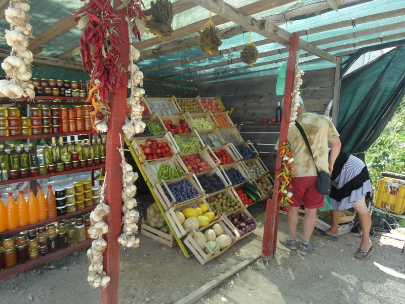 Fruitkraam in de Neretvavallei