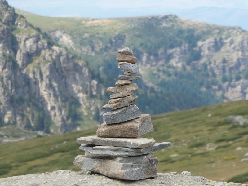 Stenenmannetje: een stapeltje stenen.
