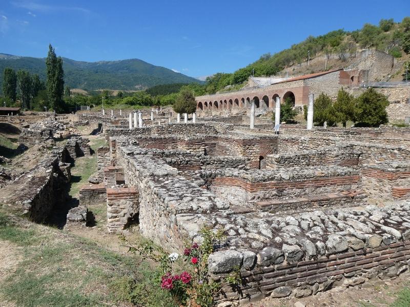 Overzicht over de Grieks-Romeinse opgraving van Heraclea Lyncestis bij Bitola